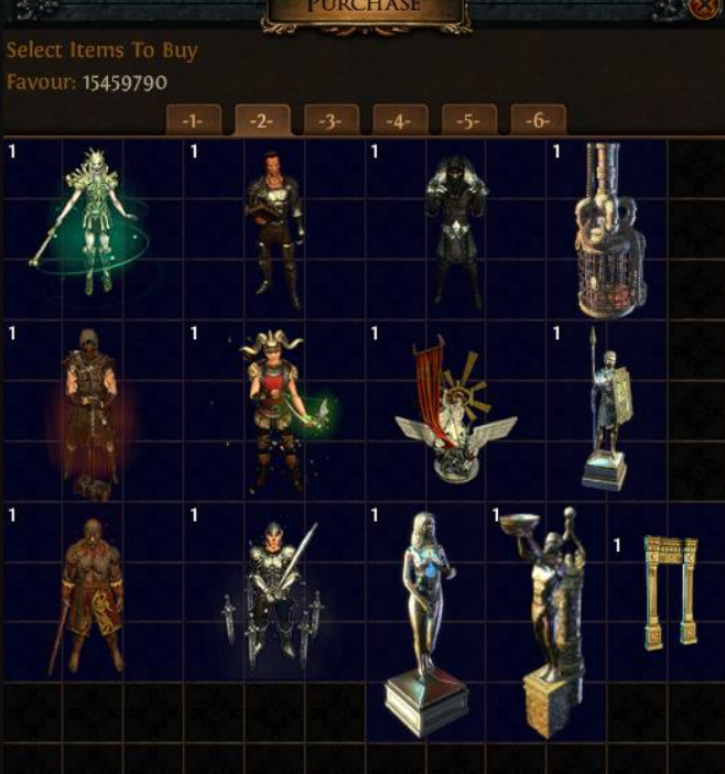 Hideout selection screen